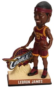The LeBron James bobblehead was a big hit with Cavaliers fans