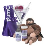 Plumchoice drives their unusual name home with an array of logoed promotional products