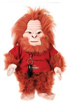 Custom Sasquatch doll makes media kit memorable.