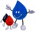 Smiley guys invite you to visit promo place