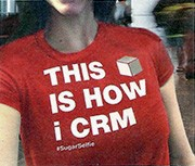 SugarCRM encouraged prospects to take selfies while wearing this T-shirt as a way of entering a contest.
