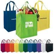 Reusable tote bags provide a responsible alternative to disposable plastic shopping bags