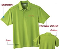 Decorate your polo shirt with embroidery, printing, laser etching or debossing.