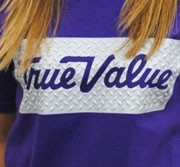 Texture can be added to a screen printed shirt for an impressive effect.