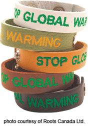Stop Global Warming wristband