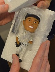 This is the prized bobblehead doll whose late arrival irritated Yankee fans