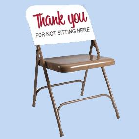 Custom printed chair back