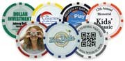 Poker chip ball markers provide another revenue opportunity with sponsorships
