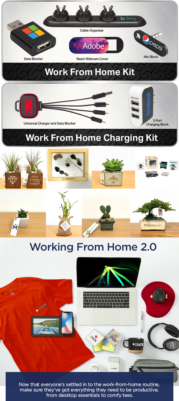 work-from-home employee gift sets