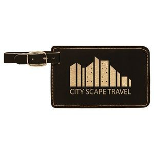 "Leatherette Luggage Tag - Rectangle (4.25""x2.75"")"