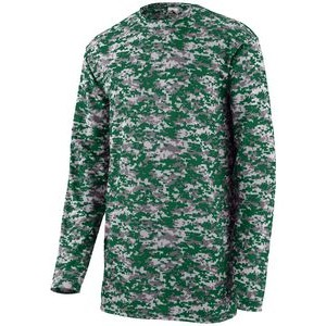 Augusta Youth Digi Camo Wicking Long-Sleeve T-Shirt