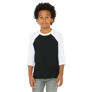 Color Image Apparel - Bella Youth 3/4-Sleeve Baseball T-Shirt