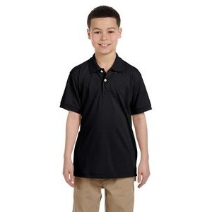 Harriton Youth 5.6 oz. Easy Blend? Polo