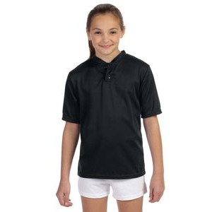 Augusta Youth Wicking Two-Button Jersey