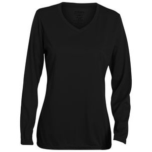 Augusta Girls' Wicking Long-Sleeve T-Shirt