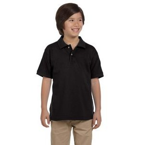 Harriton Youth 6 oz. Ringspun Cotton Piqué Short-Sleeve Polo