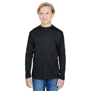 A-4 Youth Long Sleeve Cooling Performance Crew Shirt