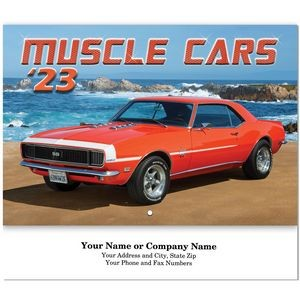 Muscle Cars Stitched Wall Calendar