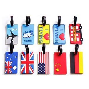 Soft PVC Promotional Travel Waterproof Luggage Tag