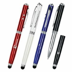 Picard 4-in-1 LED Laser Pointer & Stylus Metal Ballpoint Pen