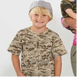 Code V Youth Camo Short Sleeve Tee Shirt
