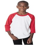 Augusta Sportswear Youth 3/4 Sleeve Baseball Shirt
