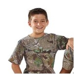 Code V Youth 5.5 Ounce RealTree® Camouflage Tee Shirt