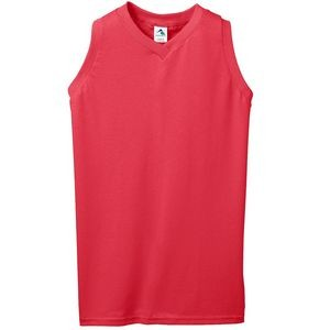 Augusta Sportswear Girl's Sleeveless V-Neck Jersey