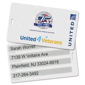 "Laminated Luggage Tag (2-7/8""x5"")"