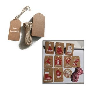 Kraft Gift Marking Hang Tags Price Labels with the Hole and String