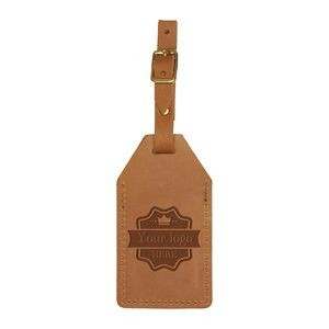 Sewn 2-piece Luggage Tag with a Flap and Buckle Strap