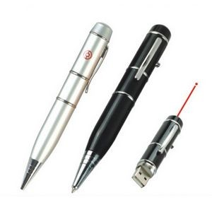 Flash Drive Ball Point Pen with Laser Light