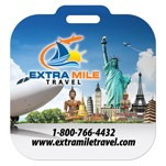 Mini Square PhotoImage Full Color Imprint Luggage Bag Tag with Printed ID Panel