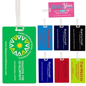 """Corsair Neon"" Neon & Stock Color Background Kwik-Seal® Luggage Bag Tag"