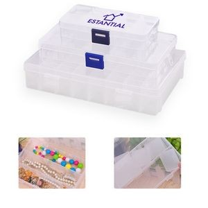 10 Compartment Transparent Plastic Box