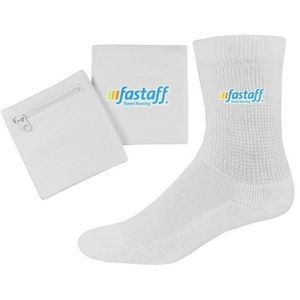 3 in 1 Band and Relaxed Top Crew Socks Combo