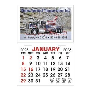 Stick It Decal 1 Month Calendar Pads - Rectangle w/Square Corners