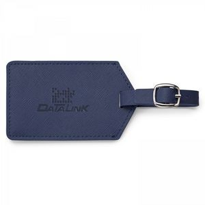 Toscano Genuine Leather Luggage Tag