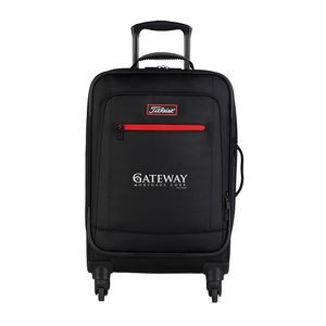 "20"" Titleist® Players Collection Black Spinner Suitcase"
