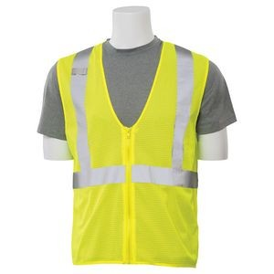 Aware Wear Class 2 Mesh High Visibility Economy Safety Vest w/ Zipper