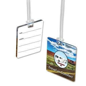 4 Square Inch Custom Acrylic Luggage Bag Tag