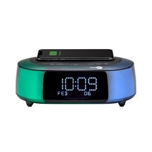 iHome IBTW281 QI Wireless Fast Charging Color Changing Bluetooth Alarm Clock