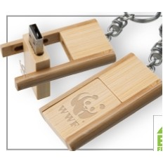 Kayu Wood USB Flash Drive w/ Keychain (4 GB)