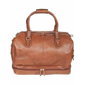 Hand Stained Calf Leather Large Duffel Bag