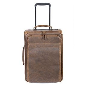 Lambskin Leather Wheeled Carry-On Luggage
