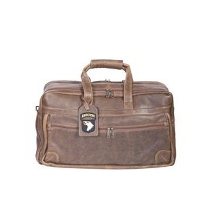 Antique Lamb Duffel Bag w/2 Center Zip Compartments