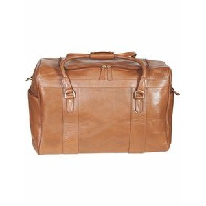 Hand Stained Calf Leather Oversize Duffel Bag