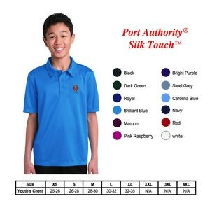 Port Authority?Youth Silk Touch Performance Polo