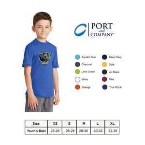 Port & Company 4.5oz Youth Performance Blend Tee