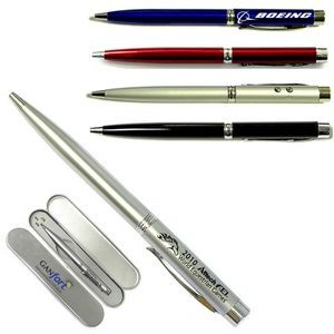 3-In-1 Ballpoint Pen with Laser Pointer & LED Flashlight